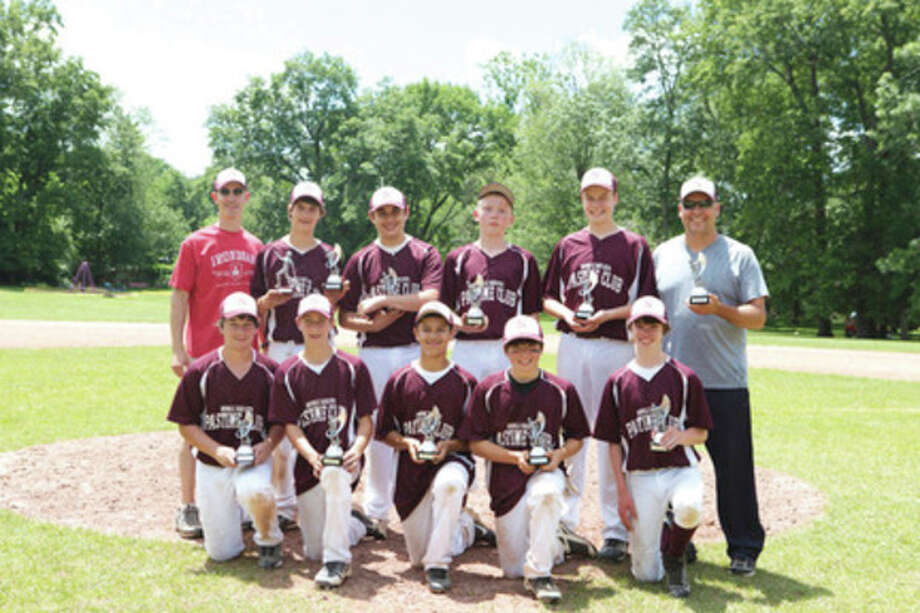 Contributed photoThe Norwalk Pastime Club squad of the Norwalk Babe Ruth program won the 13-year-old Norwalk/Stamford prep championship. Members of the team, front row from left, are Mike Pascarelli, Andrew Goldstein, Moe Ortiz, Ben Czaja and Micajah Smith. Back row from left, coach Jason Goldstein, Isaac Keehn, Max Pagano, Andrew Clark, Jack Potochney and manager Steve Potochney. Not pictured are Niko Petridis and Dylan Flynn.