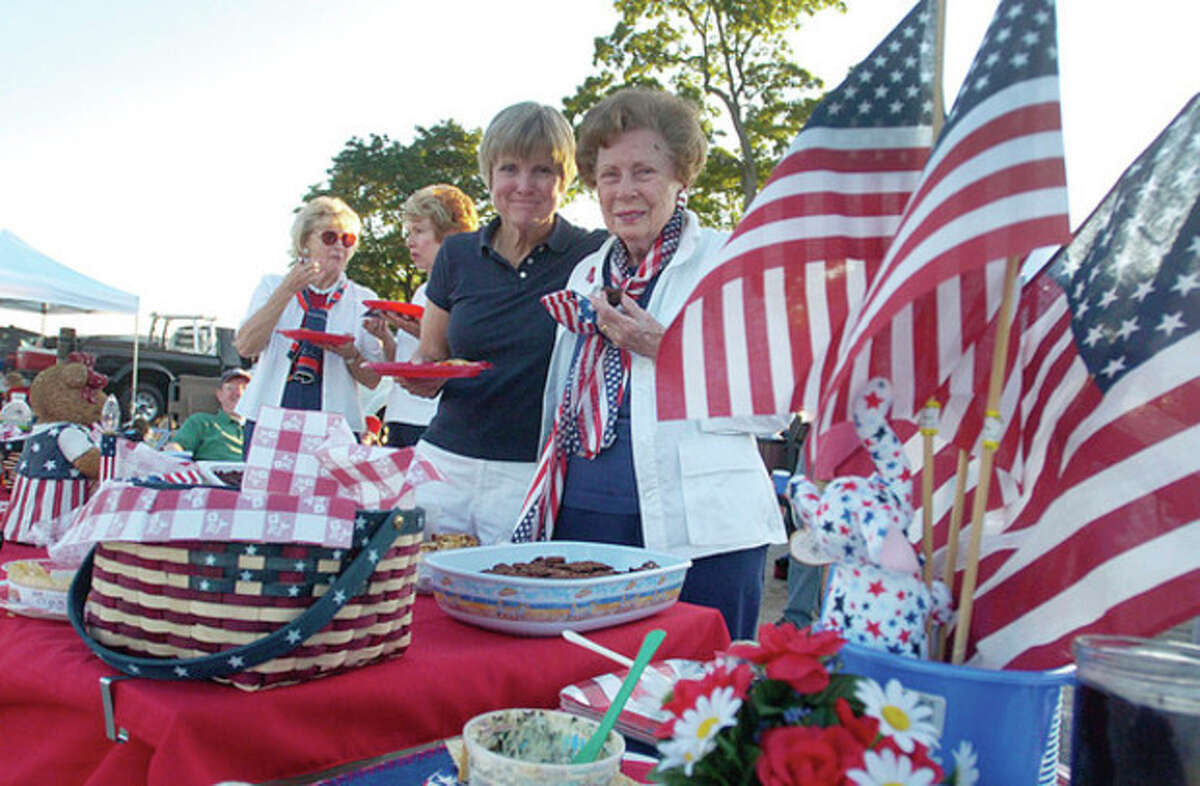 Hour photo / Erik Trautmann Sally Anstett Barry and her mother Constance Ansett have been attending the Westport fireworks display at Compo Beach for over 50 years.