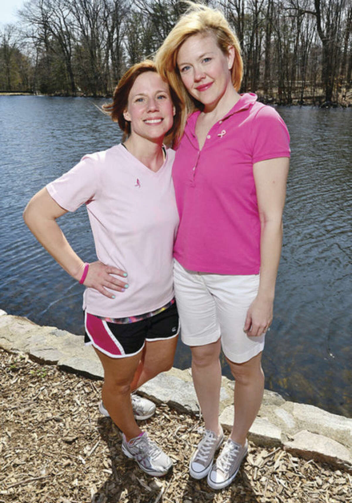 Hour photo / Erik Trautmann Stamford residents Kelley Lombardo and Lauren Rhodes have been named Town Ambassadors of Stamford for the Inaugural Komen Connecticut Race for the Cure on May 11 at the Sherwood Island State Park in Westport.
