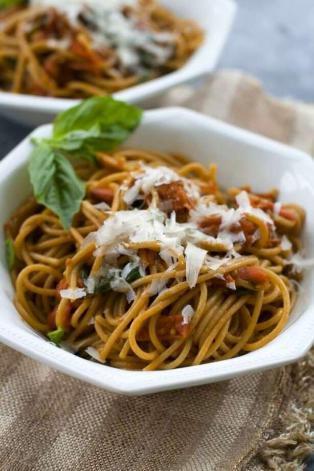 PAP photo/ Matthew Mead Rocco DiSpirito's pasta pomodoro recipe uses any variety of tomato so long as they are very ripe.