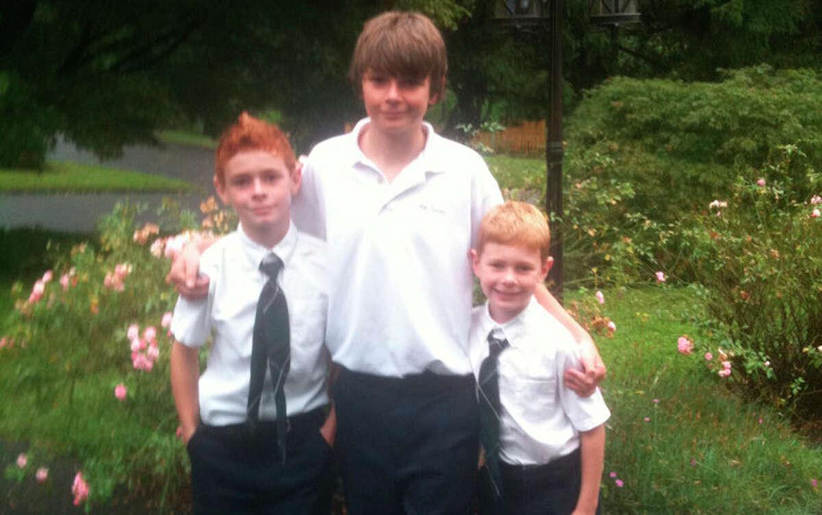 READER PHOTO: Liam, Christian and Aidan Willkehr of All Saints Catholic School.