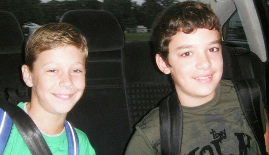 READER PHOTO: Kyle and Adam on their first day of sixth grade at Ponus Ridge Middle School, Norwalk.Ê