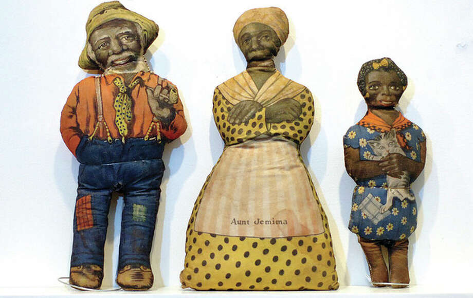 Hour Photo/Alex von Kleydorff. Aunt Jemima, her husband, Uncle Mose and Daughter Diana from 1910 / 2013 The Hour Newspapers
