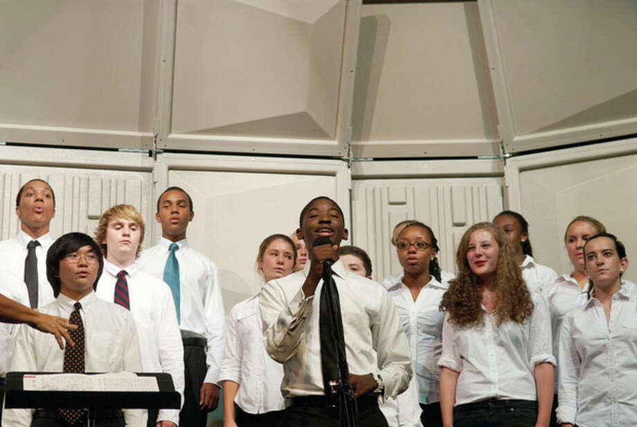 King students perform Sept. 22 at the grand opening of the school's new Performing Arts Center. Contributed photo.