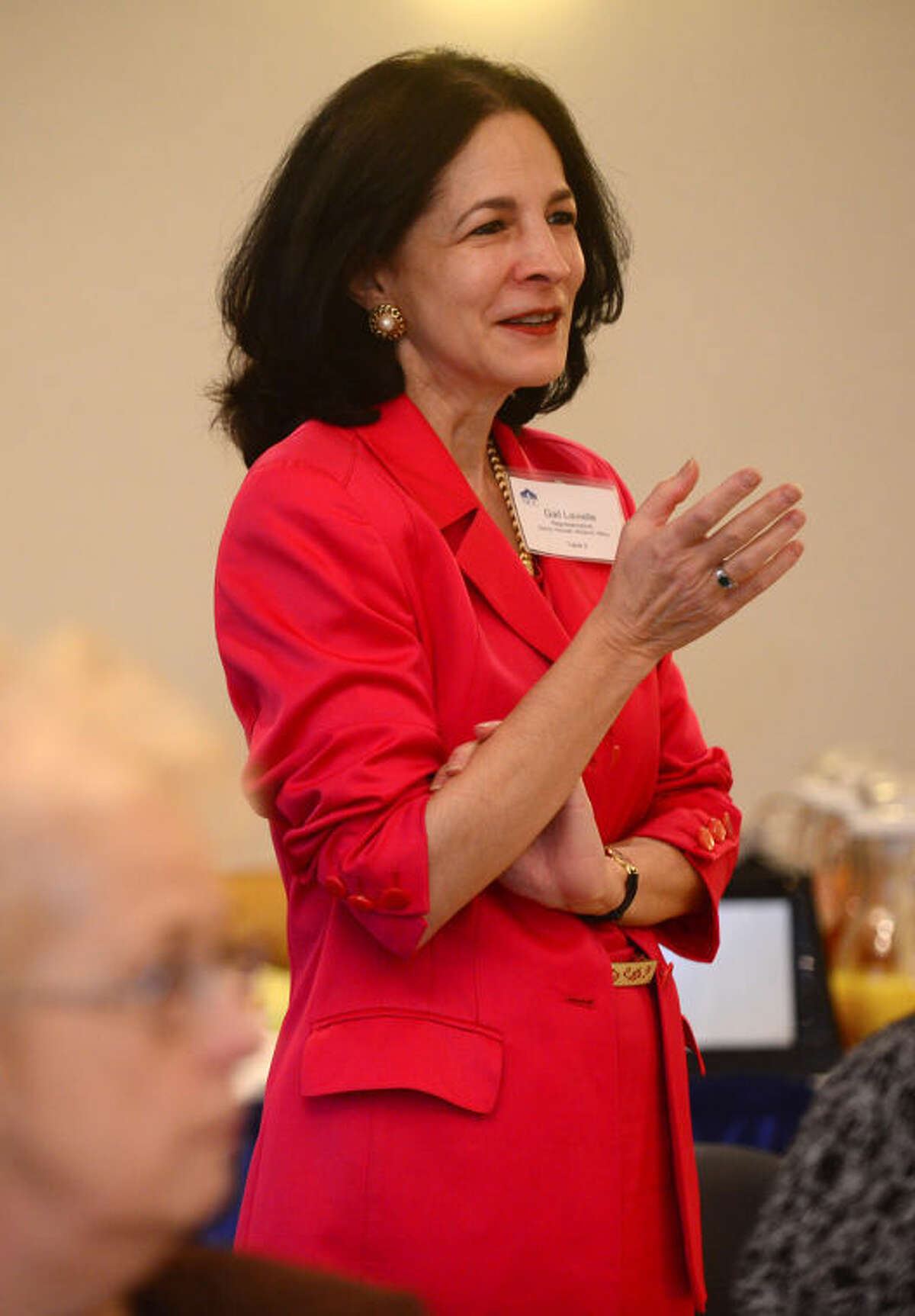 State Rep. Gail Lavielle comments on issues facing Norwalk Community College in this file photo.