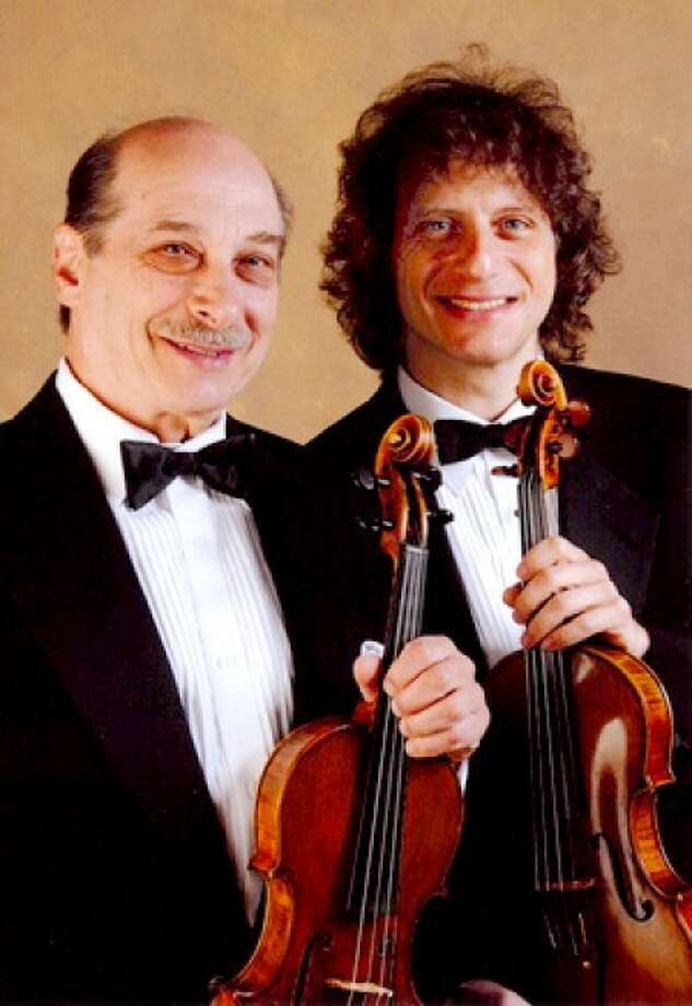Former southwest Connecticut resident Alexander Markov, right, will be joined for one selection by his father and teacher, concert violinist Albert Markov, at 8 p.m. Friday, April 1, at the Norwalk Concert Hall. To order online go to www.rockconcerto.com or call (212) 352-3101.