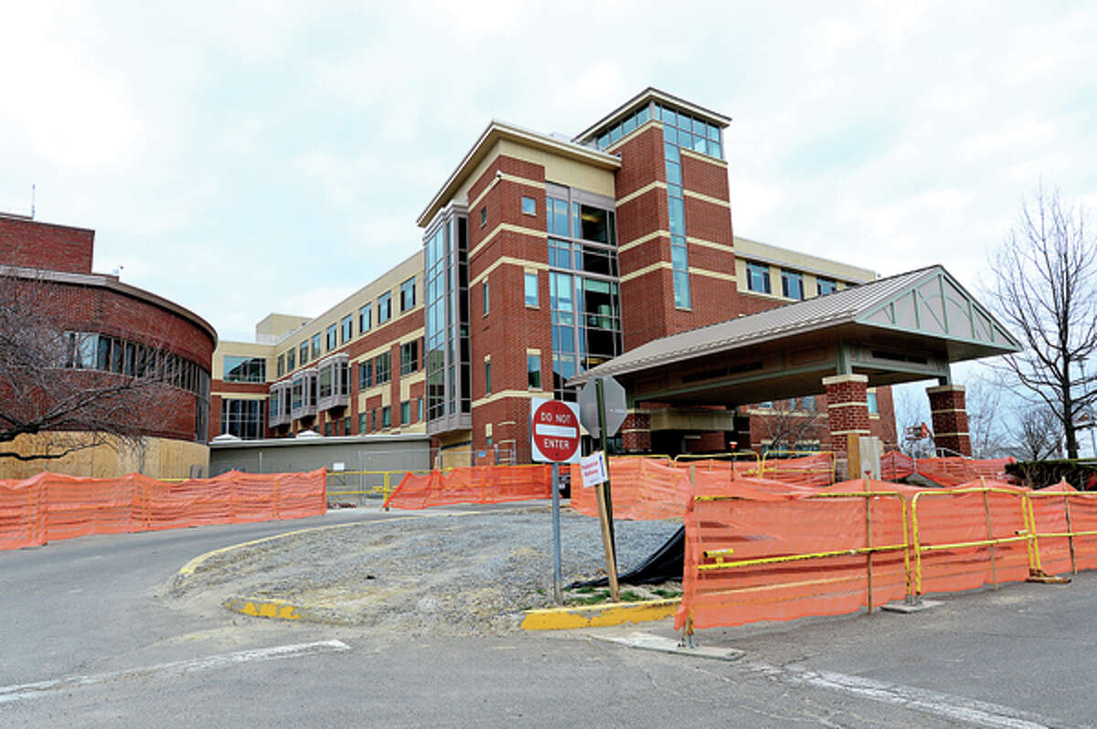 The entrance, valet parking and visitor parking for the Whittingham Pavillion and the Bennett Cancer Center will be relocated to the southside of the campus to make room for construction on a new main building to begin next week.Hour photo / Erik Trautmann