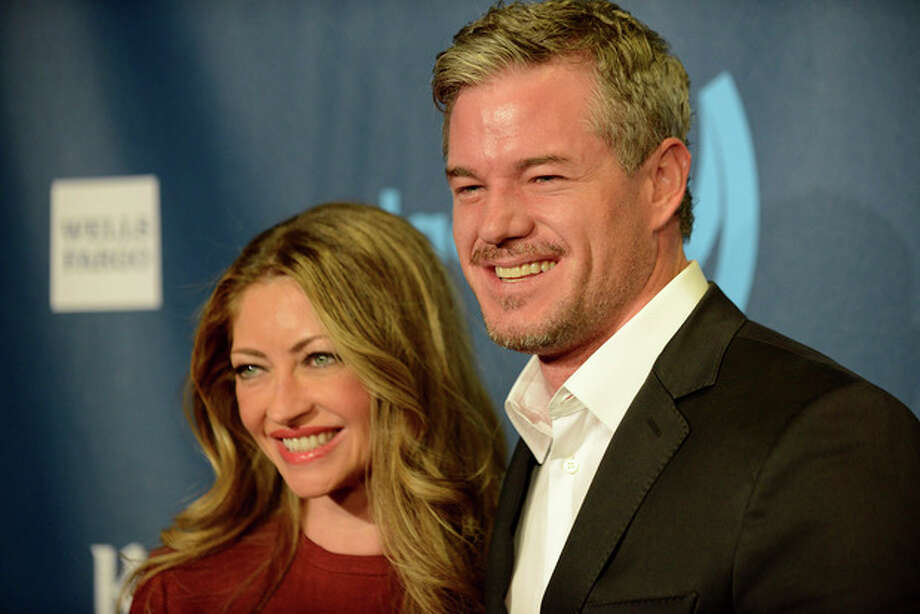 Rebecca Gayheart, left, and Eric Dane arrive at the 24th Annual GLAAD Media Awards at the JW Marriott on Saturday, April 20, 2013 in Los Angeles. (Photo by Jordan Strauss/Invision/AP) / Invision