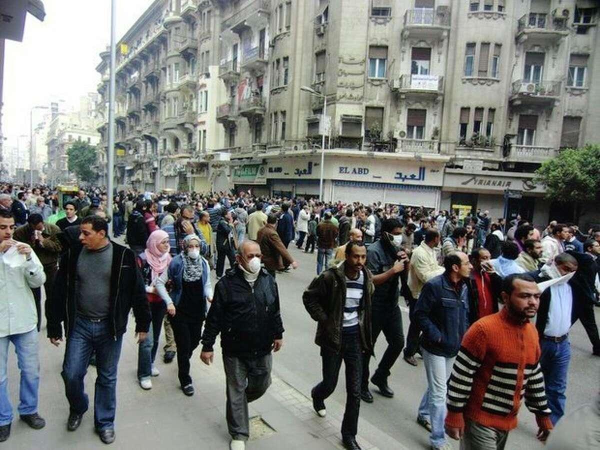 Norwalk student witnessed Egyptian political revolution