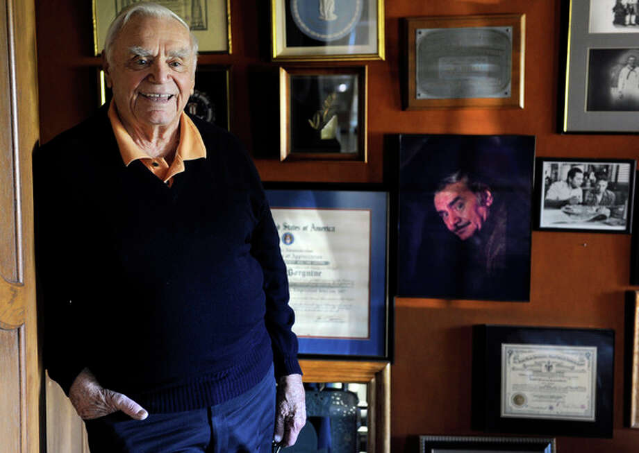 FILE - In this Oct. 26, 2010, file photo, actor Ernest Borgnine poses for a portrait at his home in Beverly Hills, Calif. A spokesman said Sunday, July 8, 2012, that Borgnine has died at the age of 95. (AP Photo/Chris Pizzello, File) / AP2010