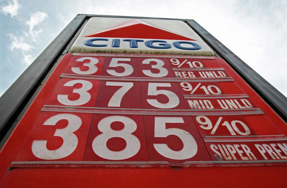 FILE - In this Friday, April 19, 2013, photo, Gas prices are displayed on in Montpelier, Vt. A sharp decline in the price of oil this month is making gasoline cheaper at a time of year when it typically gets more expensive. It's a relief to motorists and business owners and a positive development for the economy. (AP Photo/Toby Talbot, File) / AP