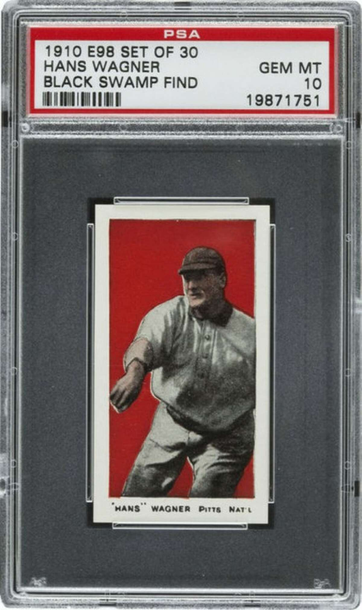 This undated photo provided by Heritage Auctions of Dallas, Texas shows a 1910 Honus Wagner baseball cards found in the attic of a house in Defiance, Ohio. The best of the bunch _ 37 cards _ are expected to bring a total of $500,000 when they are sold at auction in August during the National Sports Collectors Convention in Baltimore. (AP Photo/ Heritage Auctions)