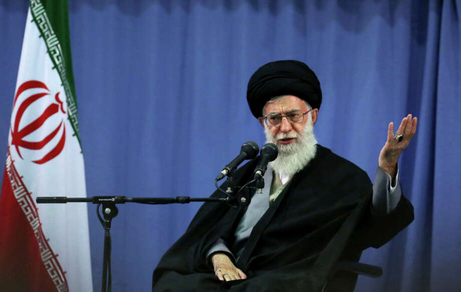 In this photo released by an official website of the Iranian supreme leader's office, supreme leader Ayatollah Ali Khamenei, addresses a group of Iranian military commanders in Tehran, Iran, Wednesday, April 17, 2013. Iran's top leader has condemned the bombing attack in Boston but at the same time charged that U.S. policies employ a double standard. (AP Photo/Office of the Supreme Leader) / Office of the Iranian Supreme Leader