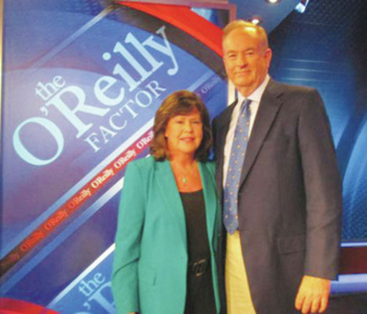 Contributed photo Norwalk resident Ginger Katz will join Bill O'Reilly Friday on his Fox News show.