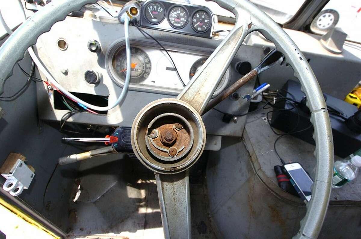 Hour Photo/ Alex von Kleydorff. The interior of the 1967 Chevy I Scream Ice Cream truck in Westport.