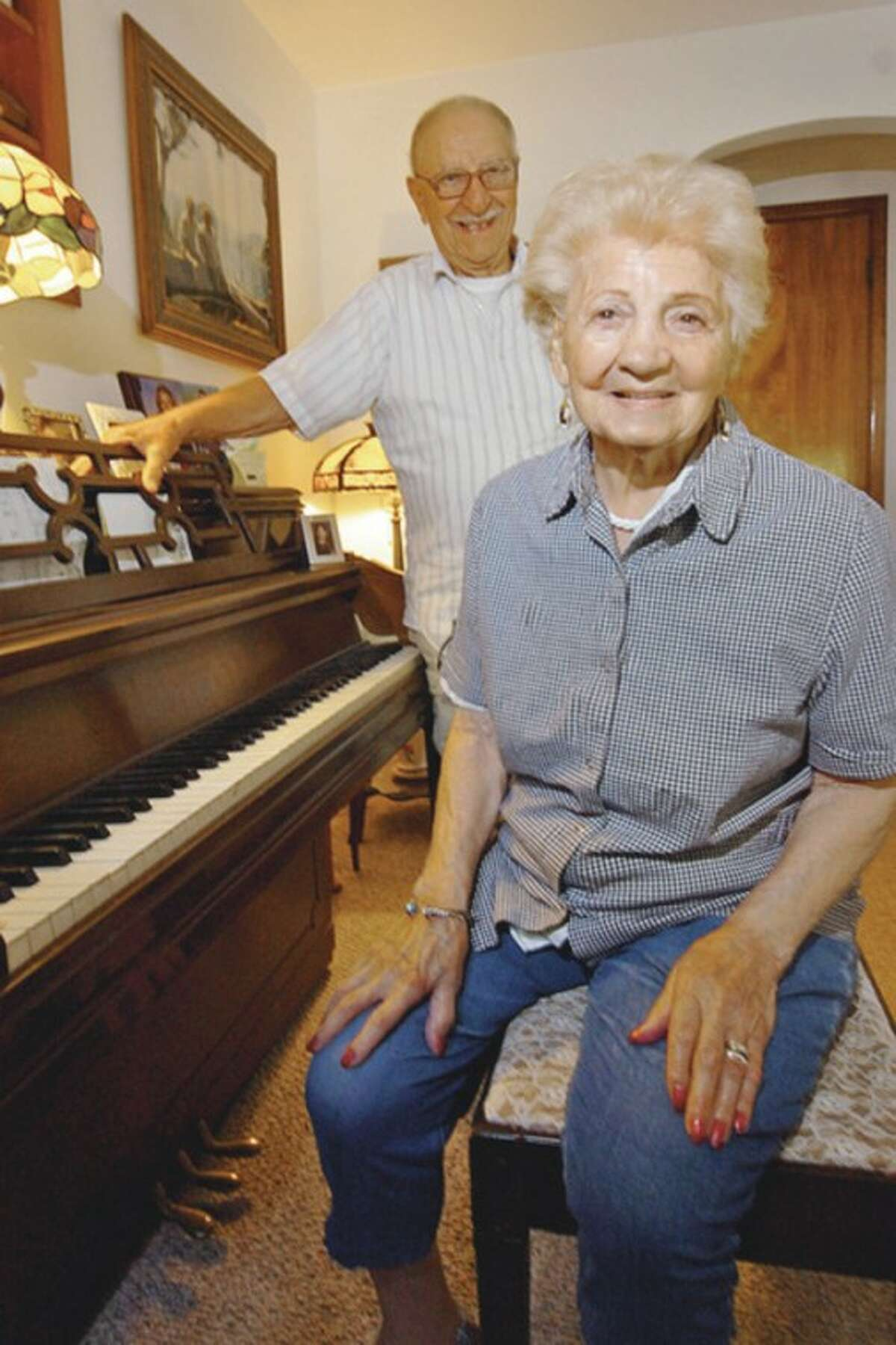 Hour photo / Erik Trautmann Frederica Genatiempo celebrated her 100th birthday Wednesday and will have her party Saturday at the South Norwalk Boat Club.