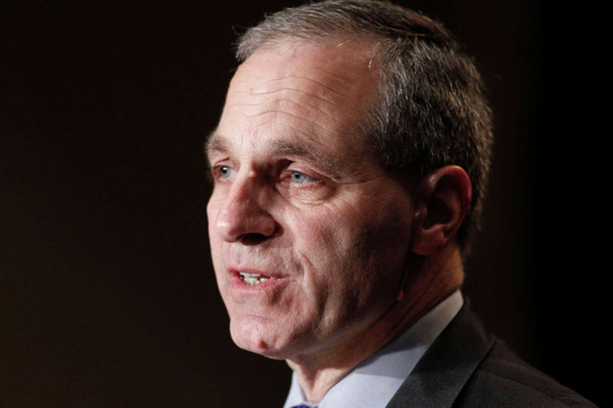 FILE - In this Nov. 21, 2011 file photo, former FBI director Louis Freeh, speaks during a news conference in Philadelphia. Freeh, who led a Penn State-funded investigation into the university's handling of molestation allegations against former assistant football coach Jerry Sandusky, is scheduled to release his highly anticipated report Thursday, July 12, 2012. (AP Photo/Alex Brandon, File)