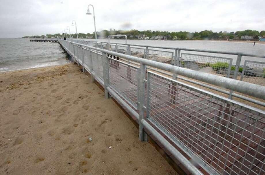 Photo/Alex von Kleydorff. The pier at Cummings beach is now open.
