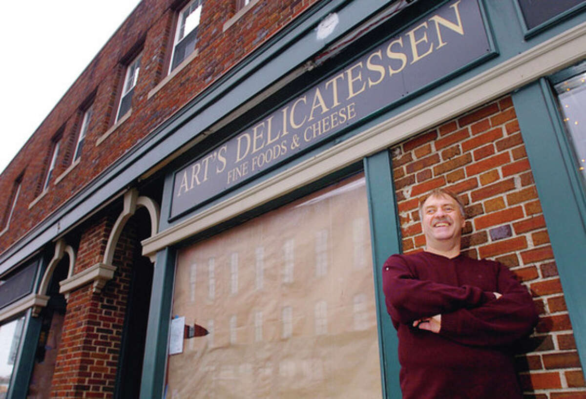 Hour photo / Erik Trautmann Richard Falcone is reopening Art's Delicatessen in the same spot that his father ran Art's from 1969 to 1990 at 13 Post Road West in Westport.