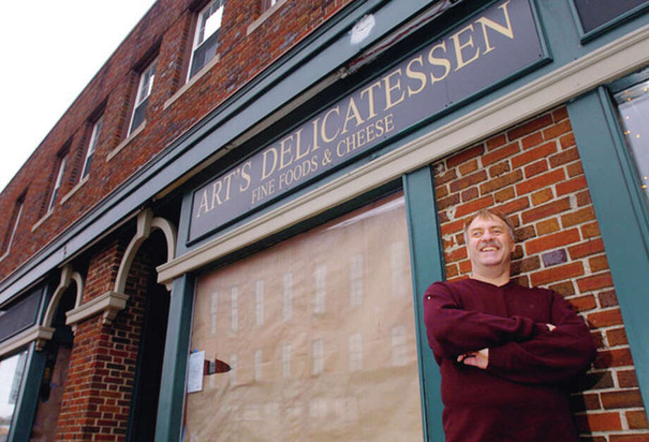 Hour photo / Erik Trautmann Richard Falcone is reopening Art's Delicatessen in the same spot that his father ran Art's from 1969 to 1990 at 13 Post Road West in Westport. / (C)2011, The Hour Newspapers, all rights reserved