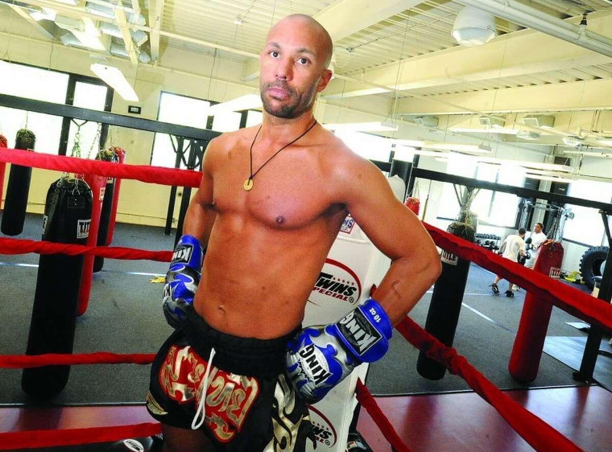 Muay Thai fighter Sean George of Wilton at C3 Athletics in Stamford. photo/Matthew Vinci