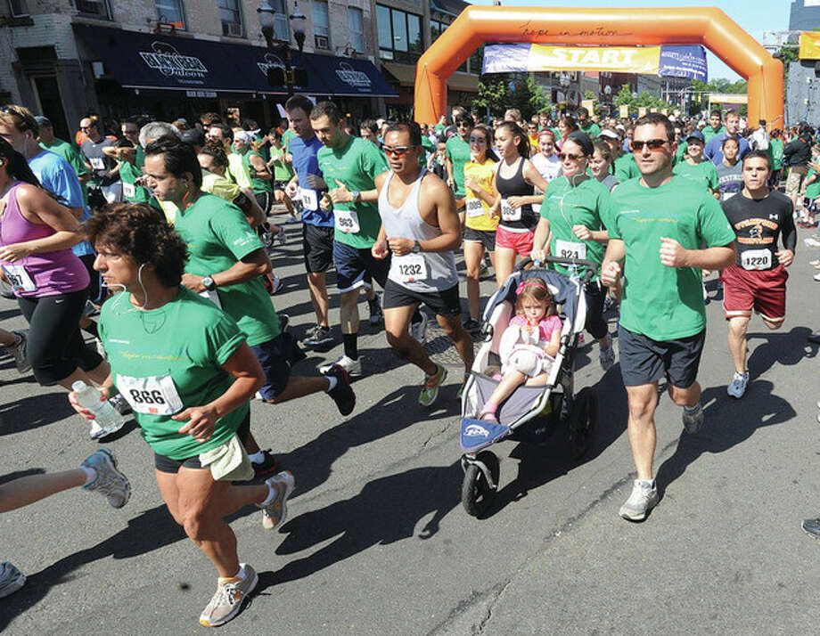The Hope In Motion Walk, Run, & Ride to benefit the Bennett Cancer Center begins Sunday at Columbus Park in Stamford . hour photo/Matthew Vinci