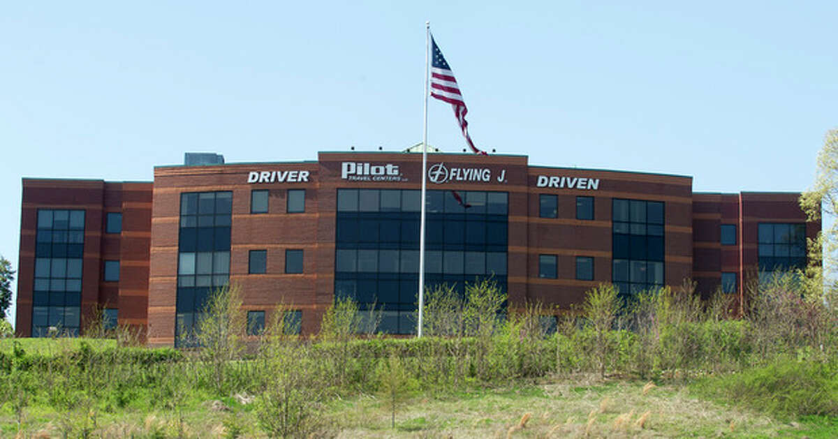 """The Pilot Flying J headquarters is seen Monday, April 15, 2013, in Knoxville, Tenn. FBI Supervisory Special Agent Marshall Stone said that FBI and IRS agents arrived at the corporate headquarters as part of a ?""""ongoing investigation.?"""" (AP Photo/Knoxville News Sentinel, J. Miles Cary)"""