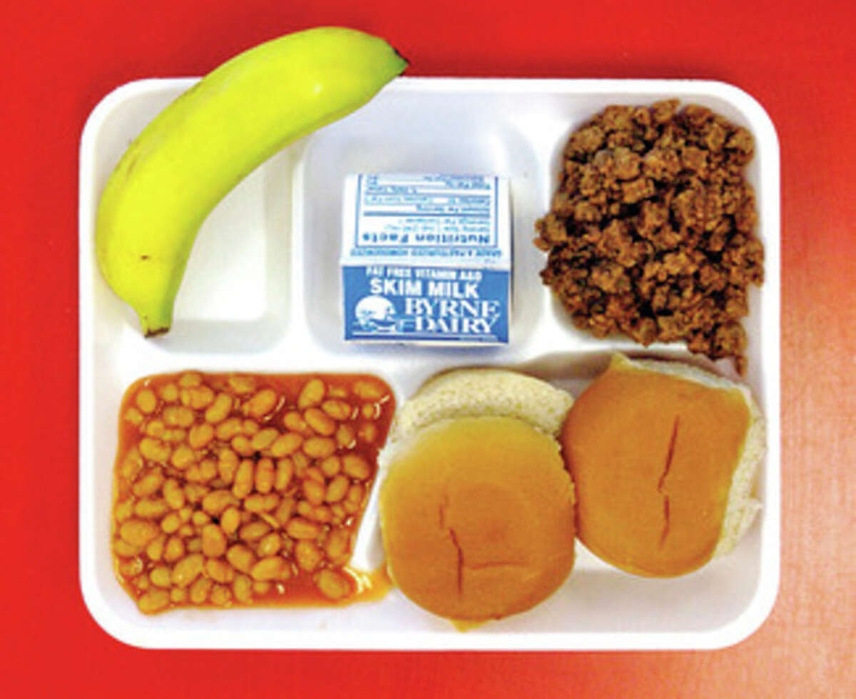 Twin Barbeque Beef sliders were the election from the Kendall Elementary School hot lunch menu Tuesday.