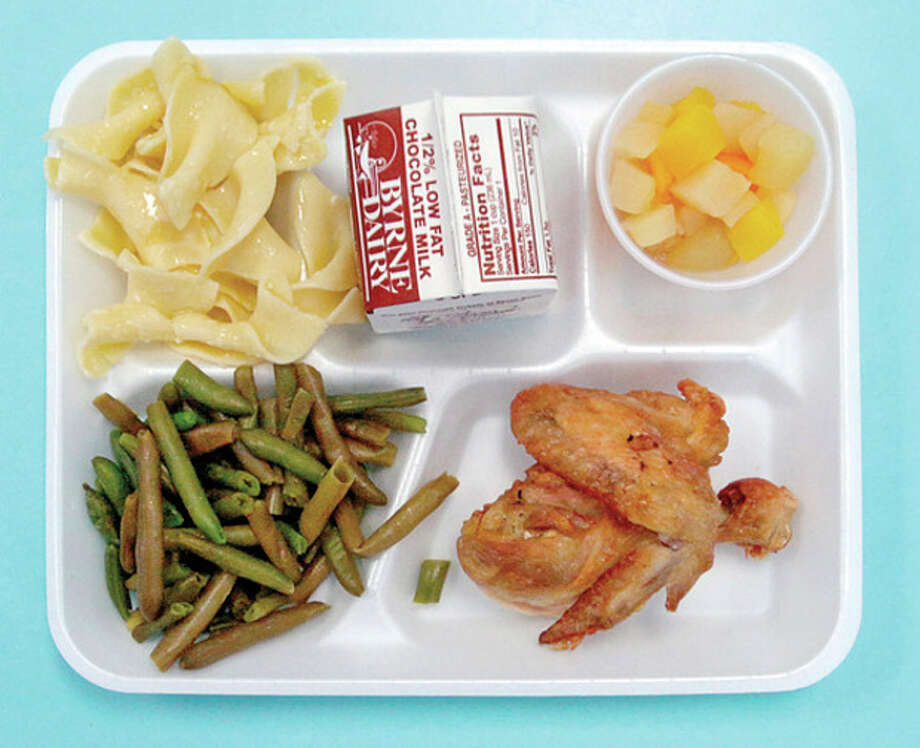 Wednesday's hot lunch menu item at Kendall Elemntay School is Oven Roasted Chicken. / (C)2011, The Hour Newspapers, all rights reserved