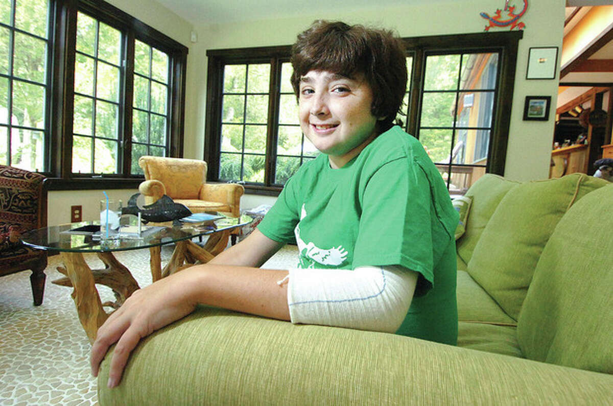Hour Photo/ Alex von Kleydorff Will Corcoran, 15, is in need of a liver donor