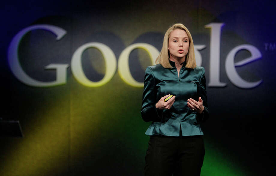 FILE- In this Monday, Dec. 7, 2009, file photo, Marissa Mayer, VP of Search Products and User Experience for Google, speaks in Mountain View, Calif. Yahoo announced Monday, July 16, 2012, it is hiring Mayer to be its next CEO, the fifth in five years as the company struggles to rebound from years of financial malaise and internal turmoil. Mayer, who starts at Yahoo Inc. on Tuesday, July 17, 2012, was one of Google's earliest employees and was most recently responsible for its mapping, local and location services. (AP Photo/Marcio Jose Sanchez, File) / AP2009