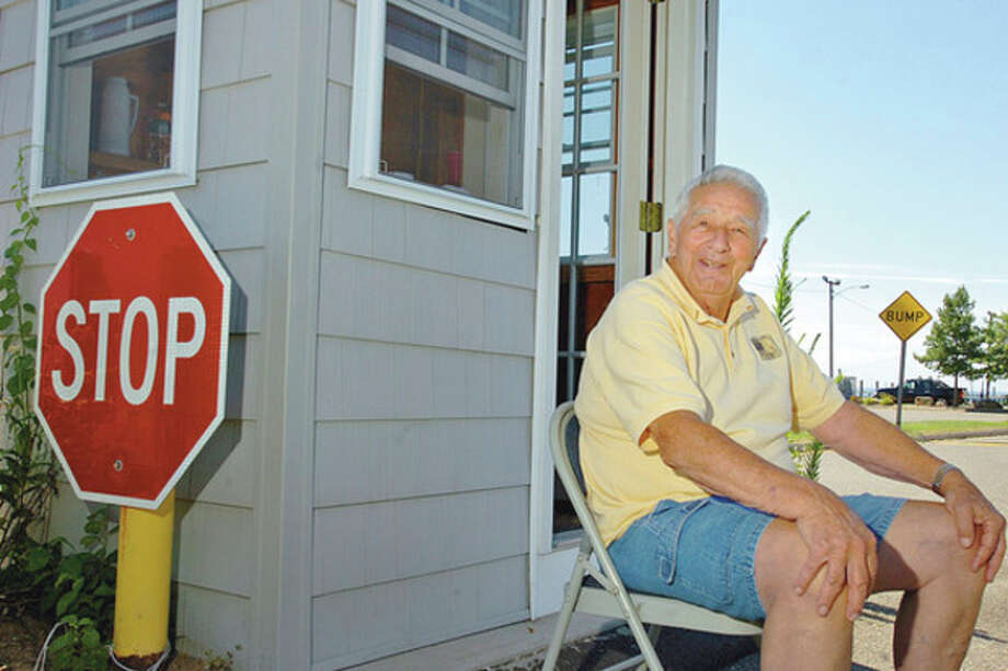 Hour photo/Erik TrautmannRalph Tucci, a former standout baseball player and coach in Norwalk, sits at the entrance to Vets Park, where he is the gate attendant two mornings per week. Now 86, Tucci was a standout baseball and softball player as well as the coach of the 1960 Norwalk PONY League team that just missed a trip to the PONY World Series. / AP