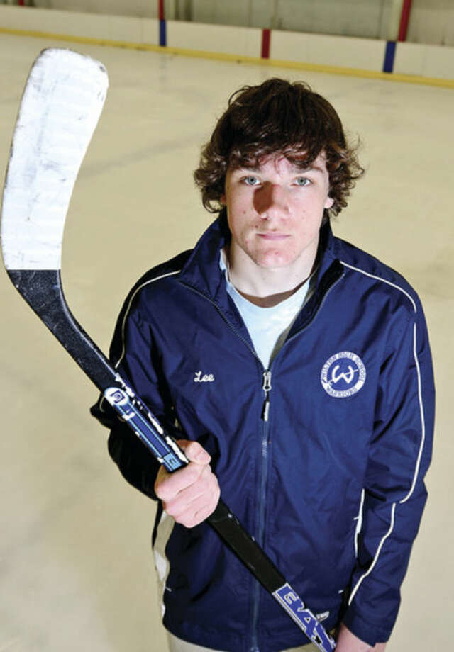 Wilton's Henry Lee is the Hour's All-Area Hockey MVP.Hour photo / Erik Trautmann
