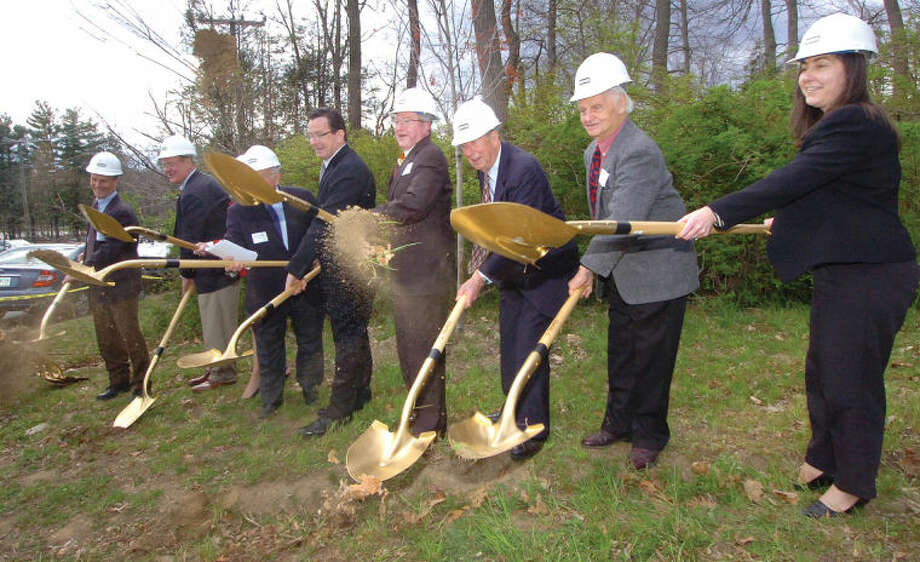 Hour Photo/ Alex von Kleydorff. Groundbreaking for Wilton Commons