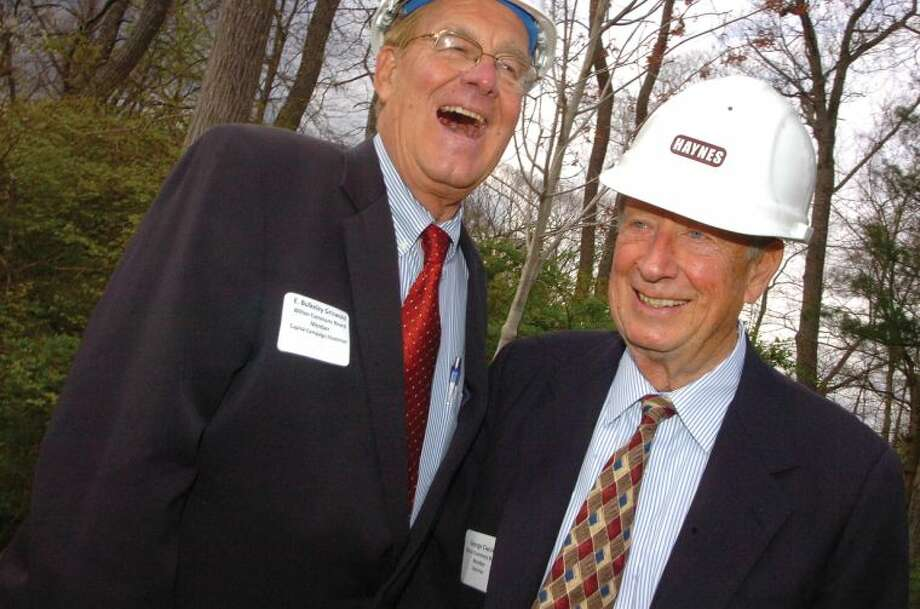 Hour Photo/ Alex von Kleydorff. Bulkeley Griswold Board of directors and Chairman George Ciaccio at the Wilton Commons Groundbreaking