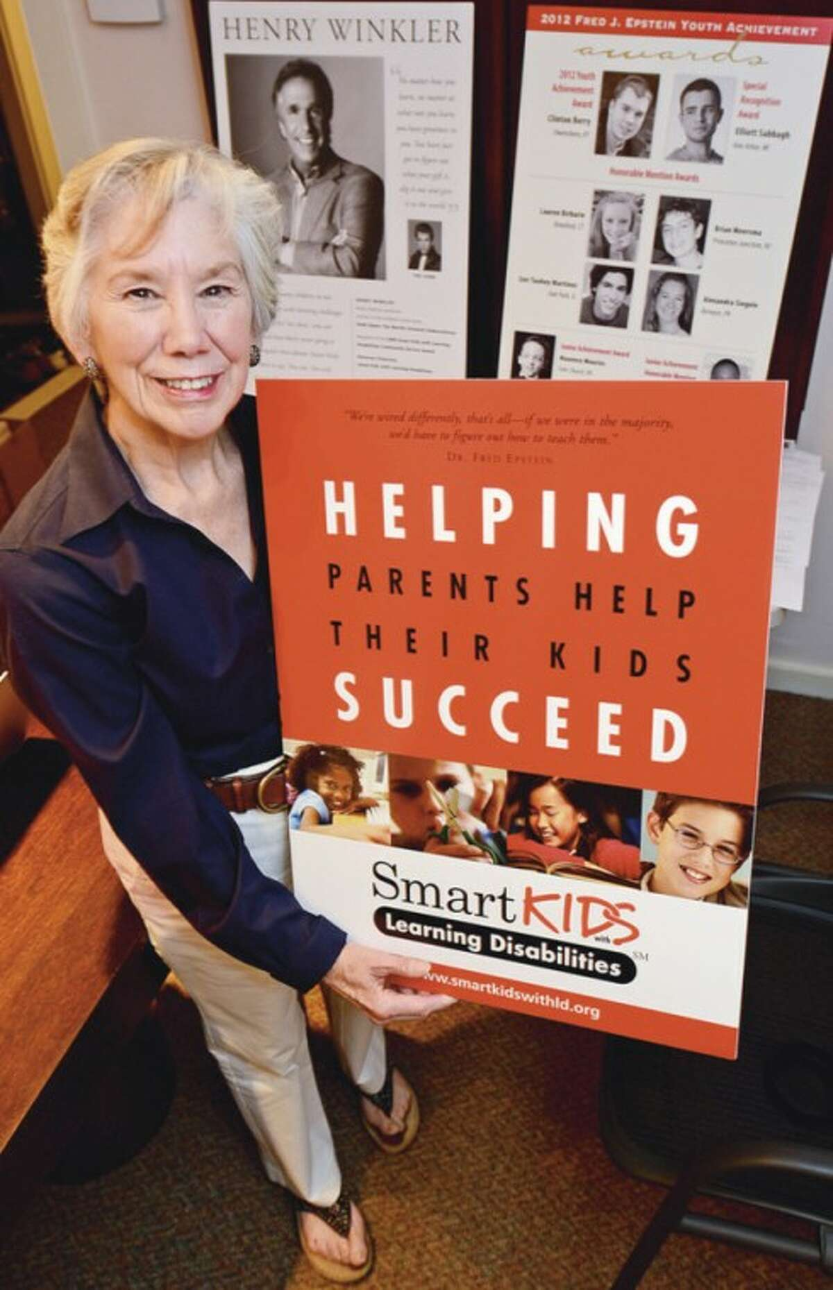 Hour photo / Erik Trautmann Jane Ross founded Smart Kids, a nonprofit organization in Westport dedicated to helping children with learning disabilities succeed.
