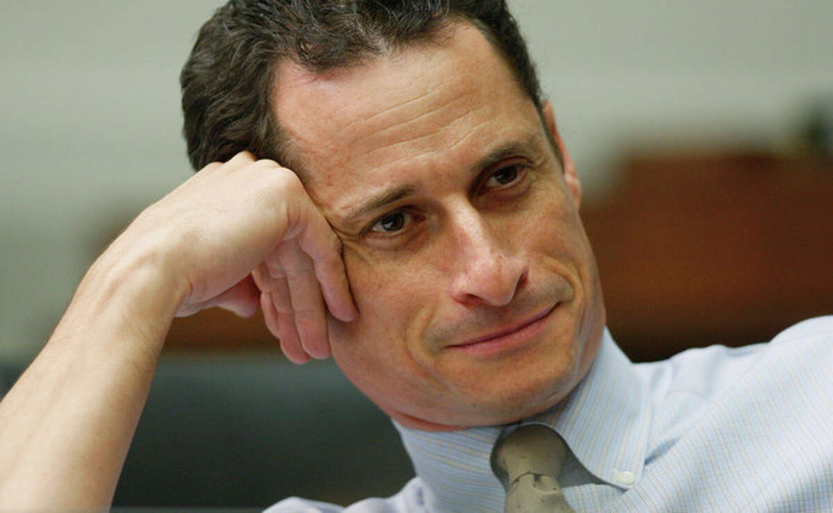In an Oct. 28, 2009 file photo, then House Judiciary Committee member Rep. Anthony Weiner, D-N.Y., listens to testimony on Capitol Hill in Washington. Weiner on Friday July 13, 2012 filed disclosure reports with the New York City Campaign Finance Board that indicate he has approximately $4.5 million in the bank for a potential City Hall bid. (AP Photo/Charles Dharapak, File)
