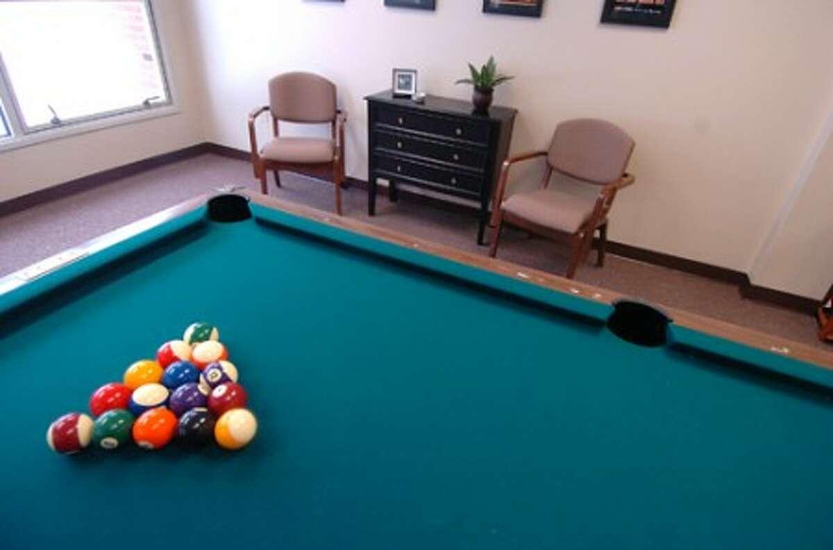 Photo/Alex von Kleydorff. New pool table in the senior lounge.