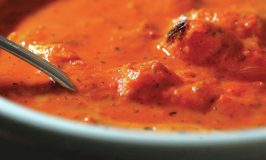 Hour Photo/ Alex von Kleydorff. Chicken Tikka Masala at Saffron / 2012 The Hour Newspapers