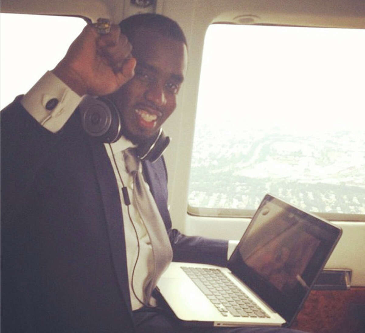 """Contributed photo Sean """"P. Diddy"""" Comb on his depature from Norwalk's Diageo building."""