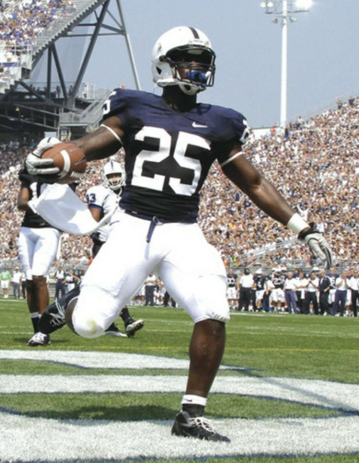 AP file photo Penn State running back Silas Redd, scoring a touchdown last fall against Indiana, has been added to another player of the year watch list.