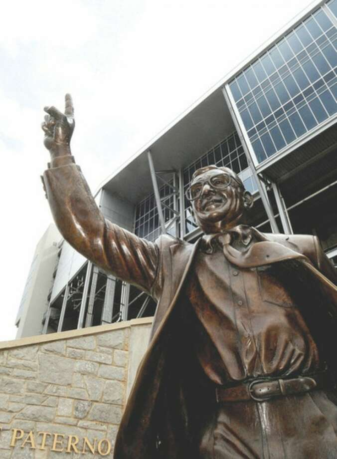 AP photo / Centre Daily Times, Abby DreyA statue of former Penn State head football coach Joe Paterno, which stood outside Beaver Stadium on the Penn State campus in State College, Pa., was removed Sunday.