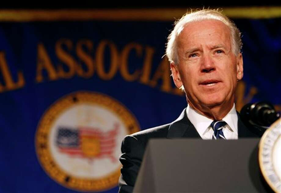 Vice President Joe Biden speaks at the annual convention of the National Association of Police Organizations, Monday, July 23, 2012, in Manalapan, Fla. Biden spoke about the recent Colorado movie theater shooting which killed twelve people and injured dozens more. (AP Photo/Lynne Sladky) / AP