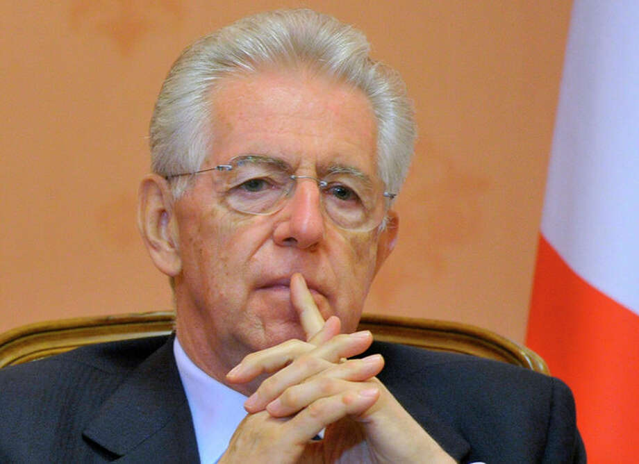 Italian Premier Mario Monti meets with Russian Prime Minister Dmitry Medvedev, not pictured, during a meeting in Moscow on Monday, July 23, 2012.(AP Photo/RIA Novosti, Alexander Astafyev, Government Press Service) / RIA Novosti Russian Government