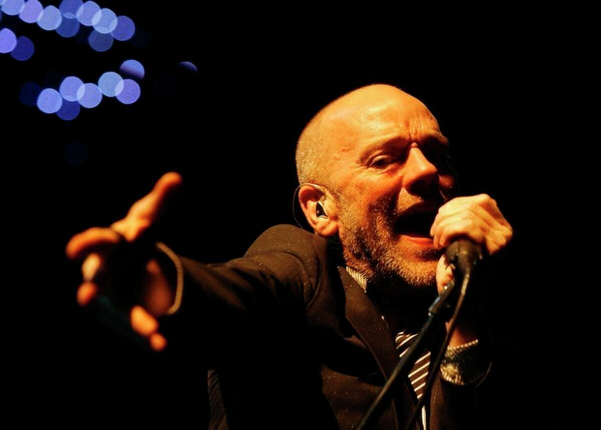 AP photo / Keystone / Steffen Schmidt In this 2008 file photo, Michael Stipe, frontman of rock band R.E.M., performs on stage at the Hallenstadion in Zurich, Switzerland. The band announced Wednesday on their website that they are breaking up.