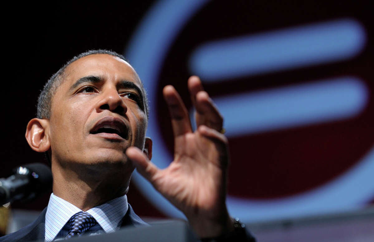 President Barack Obama addresses the National Urban League convention at the Ernest N. Morial Convention Center in New Orleans, Wednesday, July 25, 2012. (AP Photo/Susan Walsh)