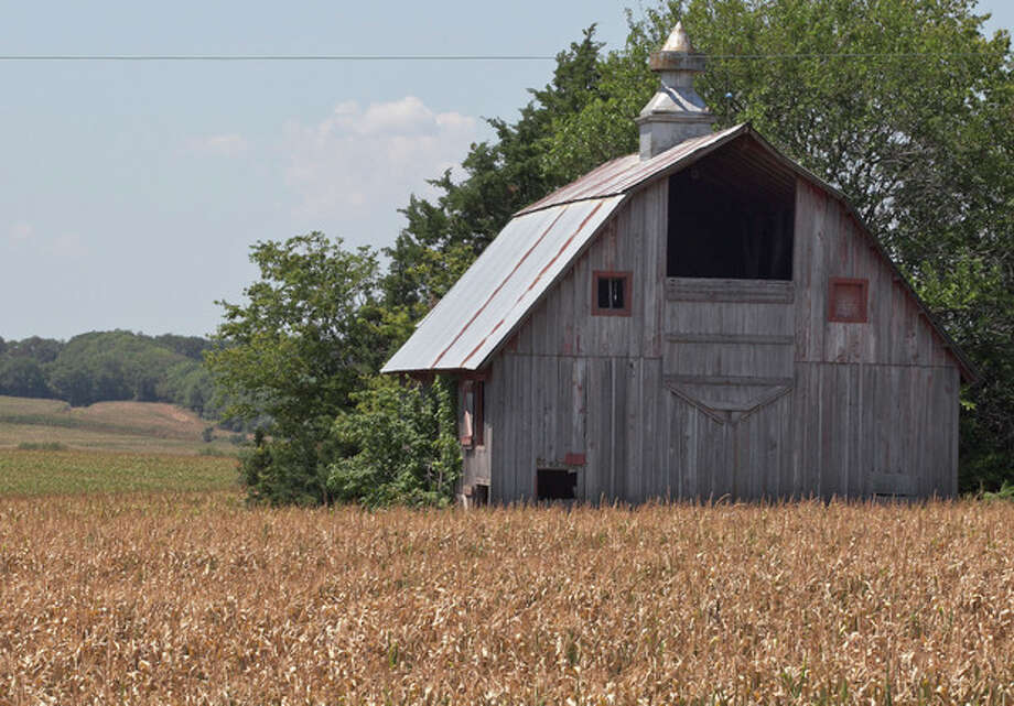 A field of dried corn surrounds a barn near Nebraska City, Neb., Thursday, July 26, 2012. The widest drought to grip the United States in decades is getting worse with no signs of abating. The drought covering two-thirds of the continental U.S. had been considered relatively shallow, the product of months without rain, rather than years, but a report released Thursday showed its intensity is rapidly increasing, with 20 percent of the nation now in the two worst stages of drought, up 7 percent from last week. (AP Photo/Nati Harnik) / AP