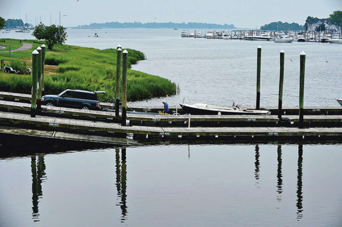 The Norwalk Harbor Management Commission release official statement regarding the draft of the Veterans Memorial Park Master Plan. At issue is the proposed 'West Marina' which would cut into navigation channel near the visitor's dock. Hour photo / Erik Trautmann