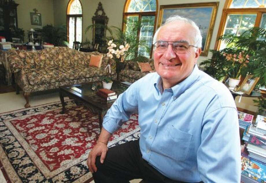 Photo/Alex von Kleydorff. Joe Tarzia in his Stamford home--File Photo