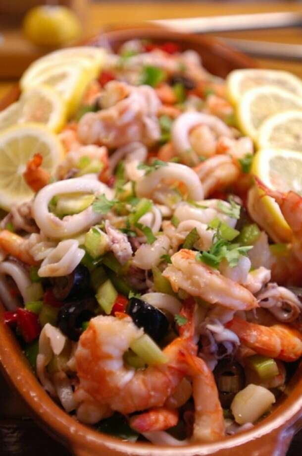 One of the specialities of Bella Pasta in SoNo, The Italian Seafood Salad. Hour photo / Erik Trautmann